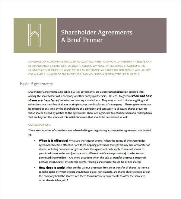 share holder cross purchase agreement