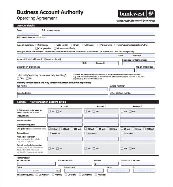 simple business operating agreement