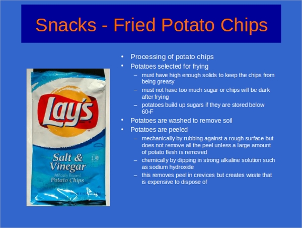 snack food powerpoint template