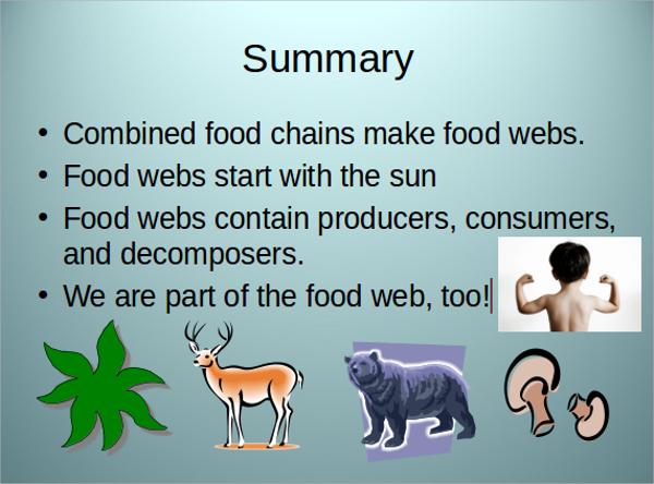 food web presentation template
