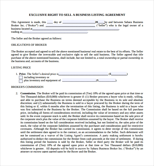 Sample Business Sale Agreement 8 Free Documents Download in PDF – Free Business Purchase Agreement