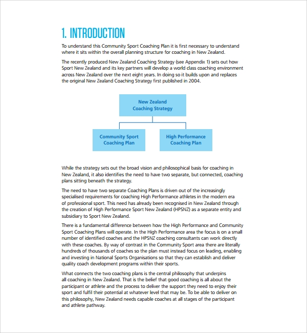 Sample Coaching Plan Template   Free Documents Download In  Doc
