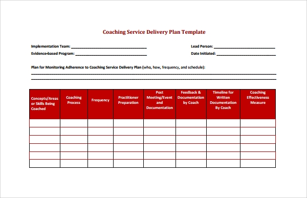 7 construction agreement templates sample templates for Client service plan template