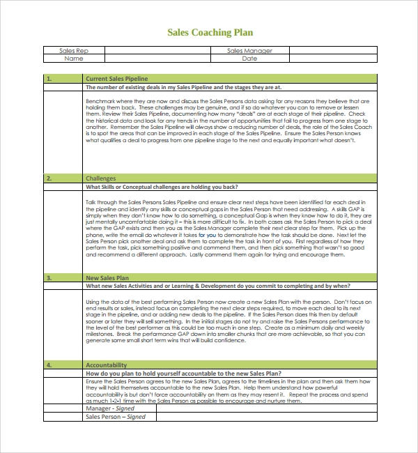 Sales-Coaching-Plan-Template Examples Of Employee Coaching Forms on risk management form example, change management form example, project management form example, performance appraisal form example,