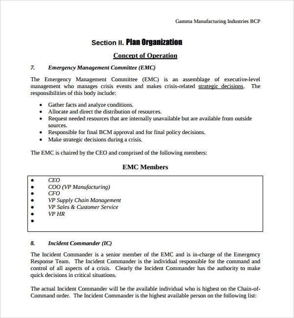 8 continuity plan templates sample templates for Supplier contingency plan template