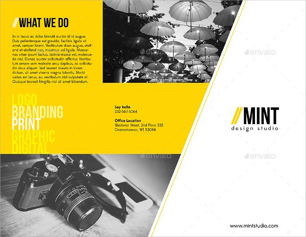 creative studio agency brochure