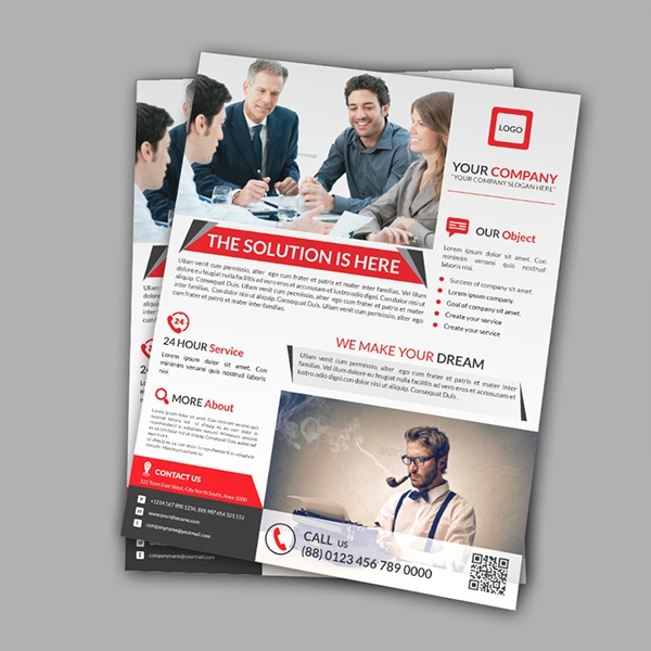 print professional corporate flyer