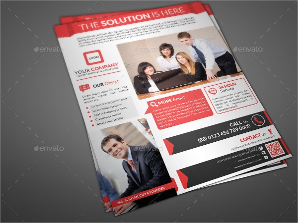 editable professional corporate flyer