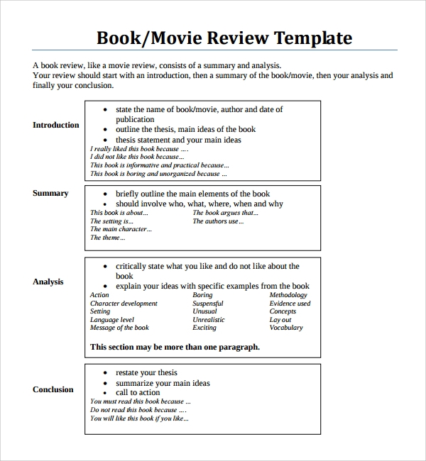 Sample Film Review Template - 8+ Free Documents Download In Word, Pdf