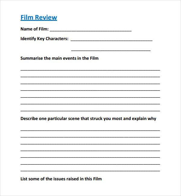 how to write a film review pdf