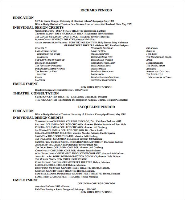 free design resume template