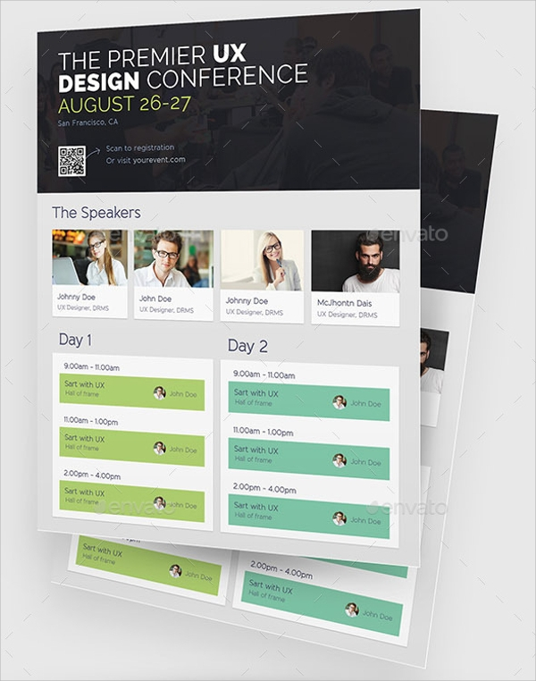 Conference Flyer Templates  Psd Vector Illustrator Format