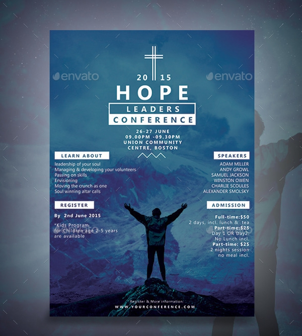 leaders conference flyer template