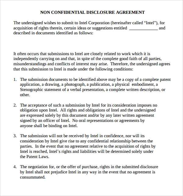 Sample Confidential Disclosure Agreement - 9+ Free Documents ...