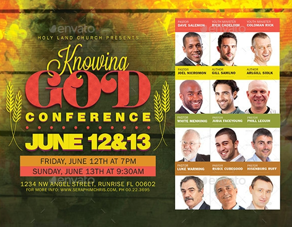 mens conference flyer