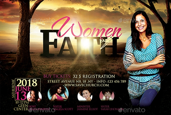 Women of faith conference flyer