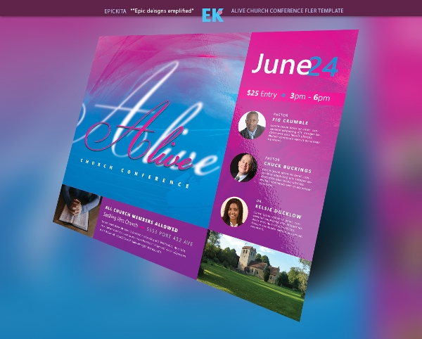 alive church conference flyer