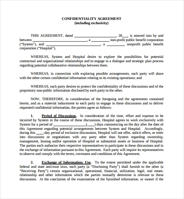 real estate confidentiality agreement - geminifm.tk