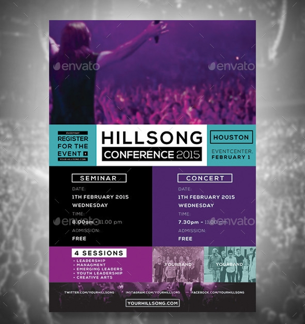 20  conference flyer templates