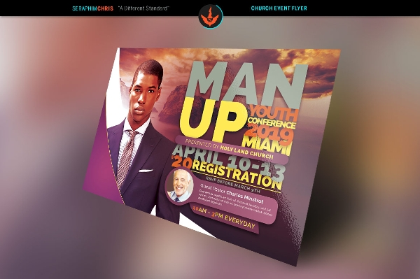 man up church conference flyer
