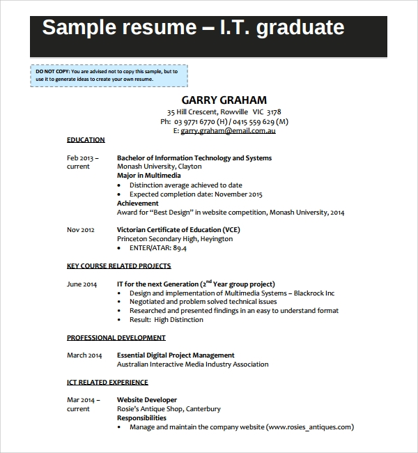sample it cv template