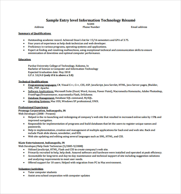 resume example sample resumes resume for hvac technician resume resume example sample resumes sample entry level