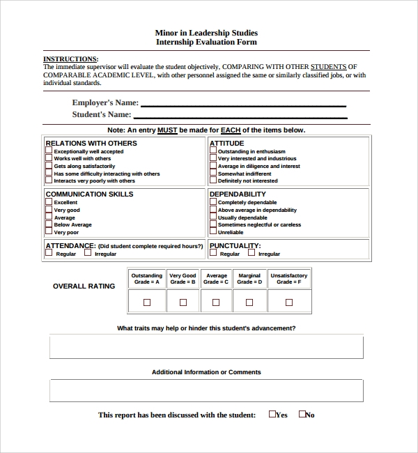 10+ Leadership Evaluation Forms | Sample Templates
