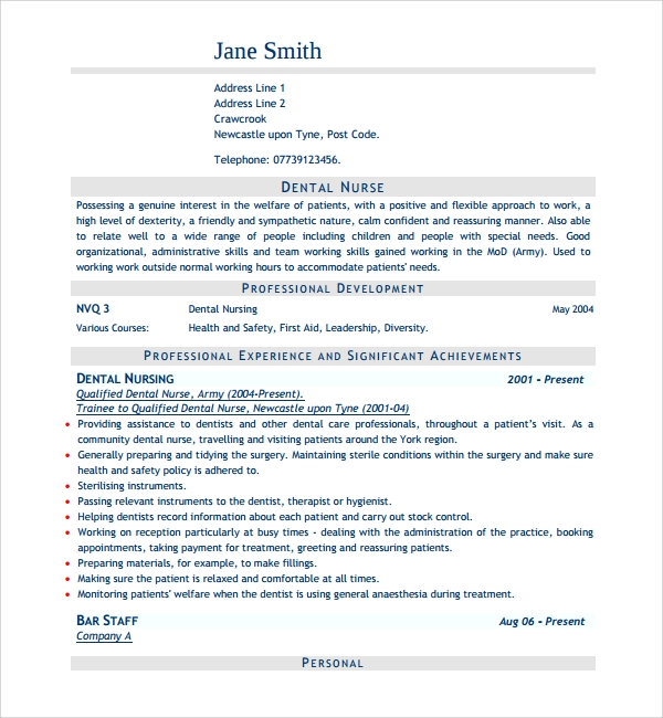 Sample Nurse Cv Template - 8+ Free Documents Download In Word, Pdf