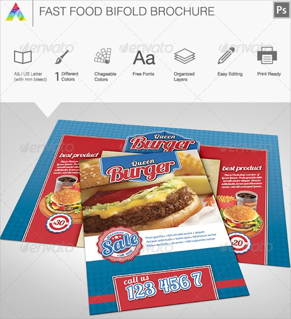fast food brochure