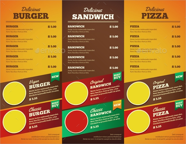 Food Brochures  Psd Eps Format Download
