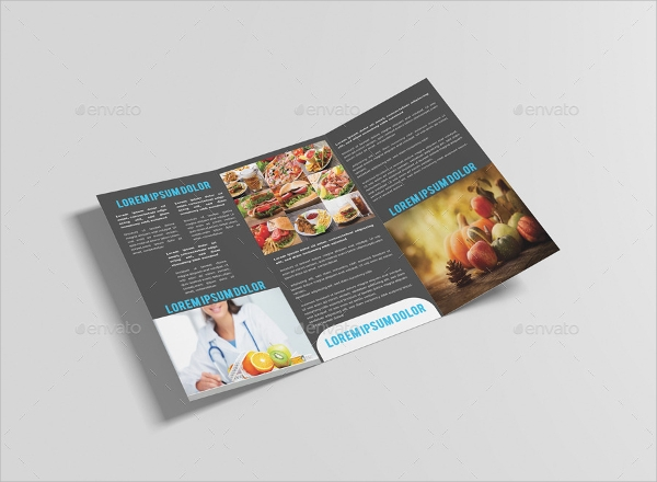 healthy food restaurant brochure