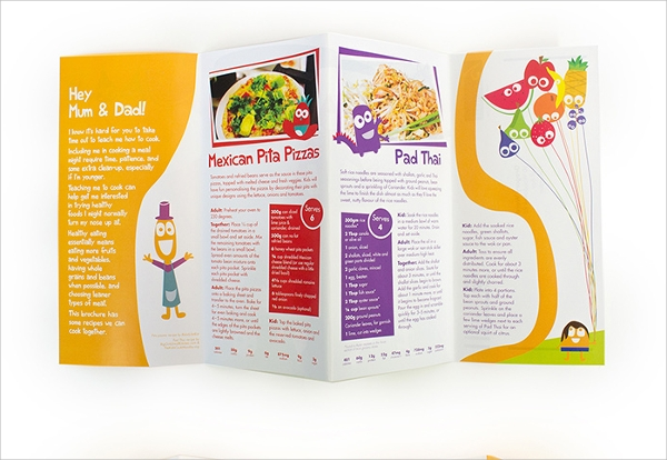 kids food brochure