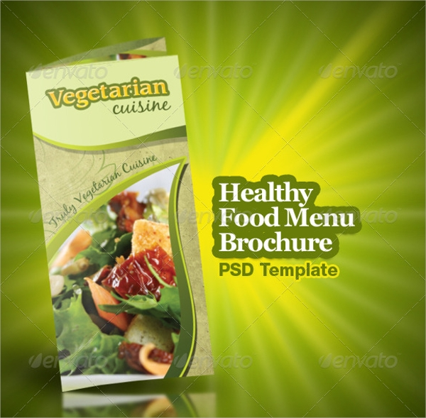 healthy food menu brochure trifold