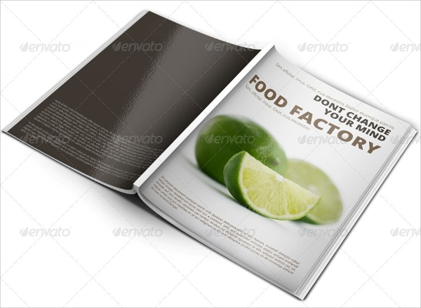 food factory brochure template