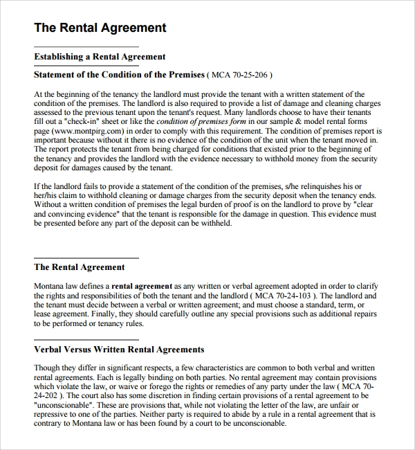 Sample Business Rental Agreement   Free Documents Download In Pdf