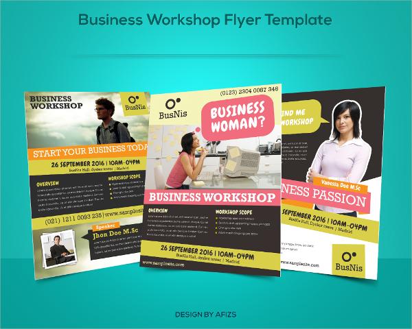 business workshop flyer template