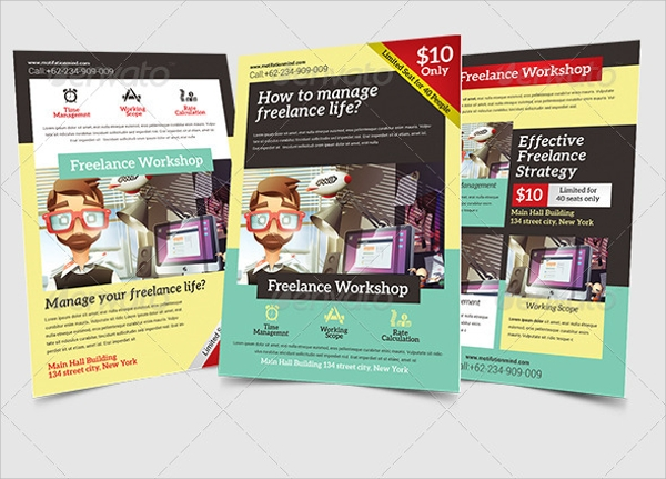 Workshop Flyer Templates  Psd Eps Format Download
