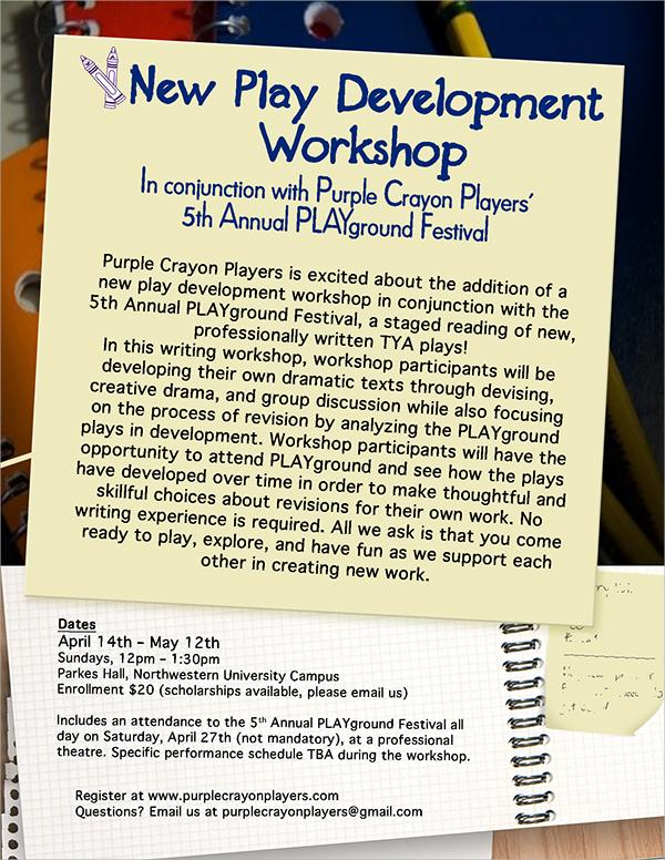 educational workshop flyer template