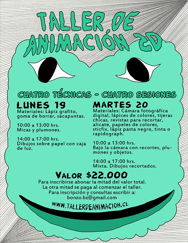 animation workshop flyer template