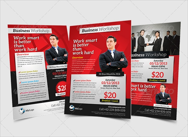 psd workshop flyer template