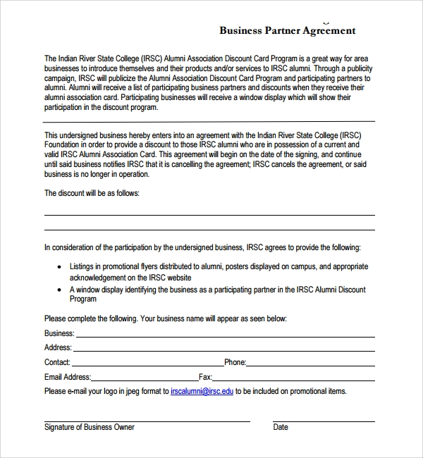 simple business partner agreement