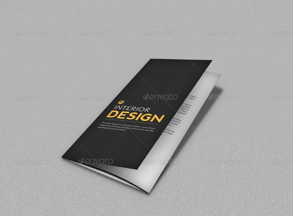 trifold promotional brochure