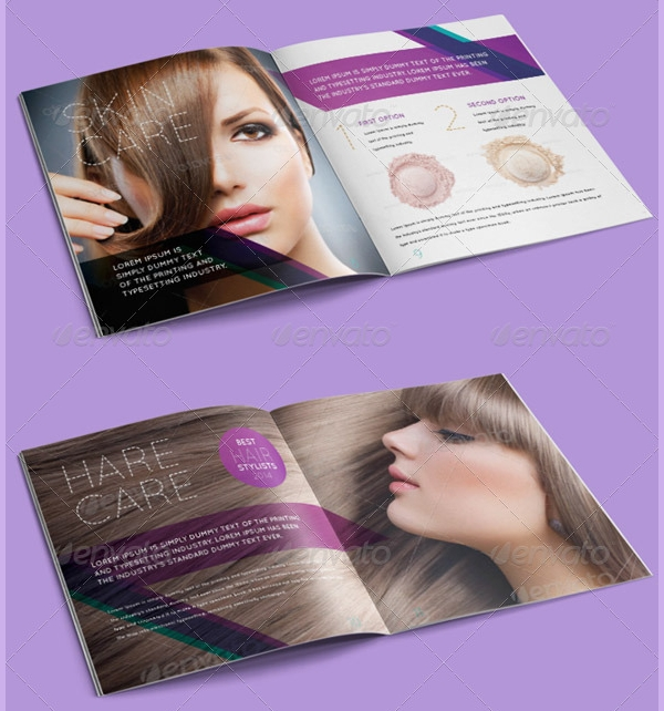 salon promotional brochure