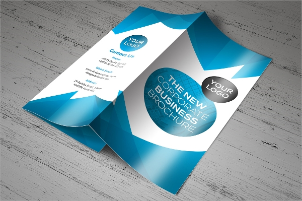 full layered corporate promotional brochure