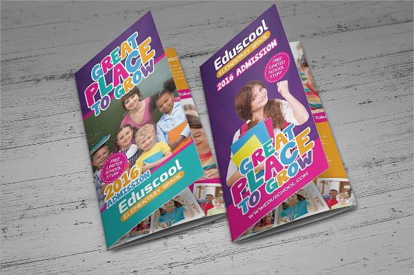 elementary school promotional brochure