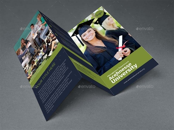 trifold college brochure