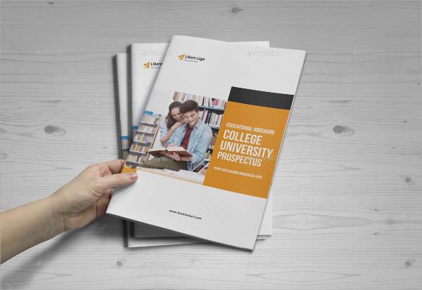 simple college brochure