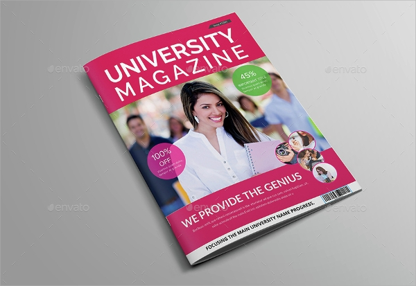 college magazine brochure