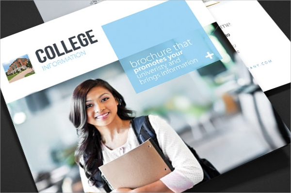 layered college brochure