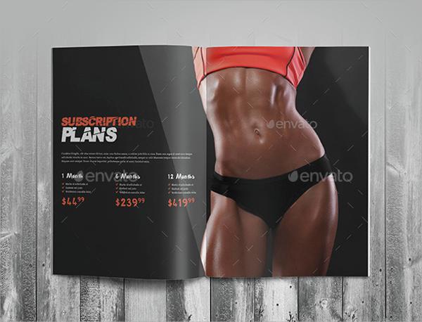 photoshop psd fitness brochure
